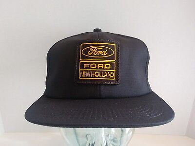 9520e543836fe VTG Ford New Holland Hat Logo Patch Snapback Cap K-Products USA Farm  Tractor NOS