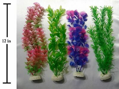 """9 Pack Of 12"""" Individually Packed Artificial Plastic Decoration Aquarium Plants"""