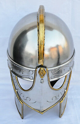 Viking German Hand Carving Helmet Ancient Medieval Armour Costume AncientReplica