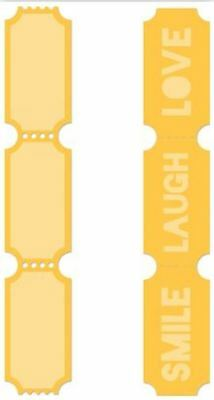 Kaisercraft Decorative metal die - Tickets - for use in most cutting systems
