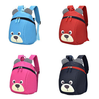 Toddler Anti Lost Cute Bear Backpack Safety Walking Harness Leash For Baby Kids