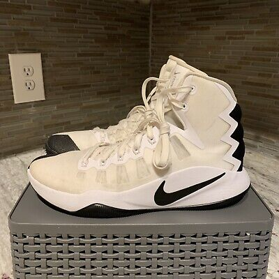 4e73047c8eb4 WOMENS NIKE HYPERDUNK 2016 TB Basketball Shoes Size 11.5 White Black ...