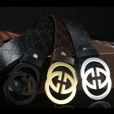 "New Sell Fashion Men's Women Belts Couple Leather""G"" Buckle Waist Belt Waistband"