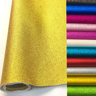 Frosted Glitter Vinyl Fabric Sparkle Faux Leather Craft Material Bows Decor