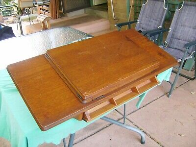 """Antique""""singer"""" Treadle Sewing Machine Wooden Table Top ,1927 Condition Is"""