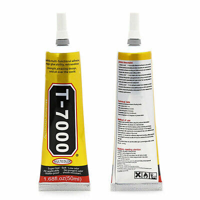 T-7000 15 /50 ml Super Adhesive Sealant Epoxy Resin Glue Repair Crack Frame