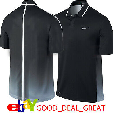 d7188c60 NIKE TW TIGER Woods Perforated Panel Polo Shirt 585783-496 *Rare ...