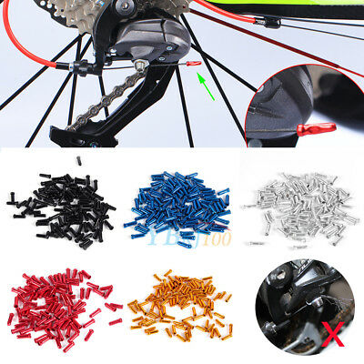 100pcs Alloy Bicycle Bike Shifter Brake Cable Tips Caps End Crimp Useful