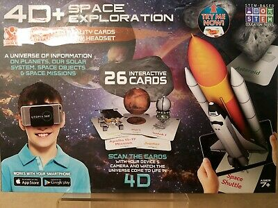 4D Space Exploration Augmented Reality Cards & Virtual Reality Headset