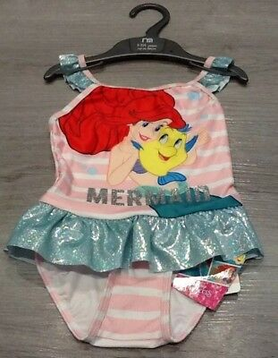 Mothercare Baby Girls Little Mermaid Swimsuit Size 12-18 Months New With Tags