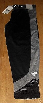 8199870ea7926 Pink Soda Sport Womens Black Mesh Grindle Capri Pants Size UK 14   EUR 40