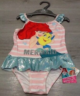 Mothercare Baby Girls Little Mermaid Swimsuit Size 18-24 Months New With Tags