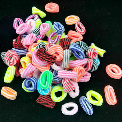 100X Bigger Girls Toddler Kids Elastic Hair Bands Bobbles Bows Boutique NEW