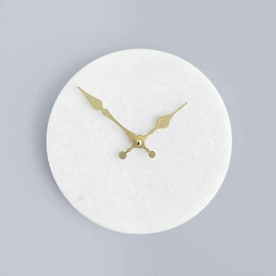 White Marble WALL CLOCK Gold Hands 20cm Minimalistic