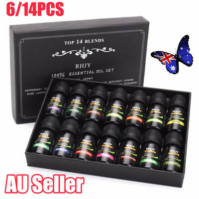 Essential Oils Set of 6/14 -100% Pure Natural Plant Aromatherapy Kit 10ml Gift U
