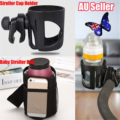 Baby Stroller Pram Cup Holder Universal Bottle Drink Water Coffee Bike Bag UN