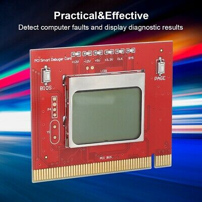 PCI Desktop PC Motherboard Diagnostic Card Computer Detection&Test Card JS