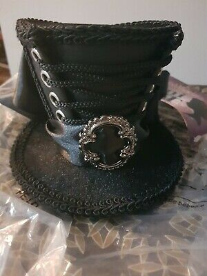 Steampunk Black  Mini Top Hat