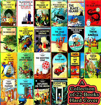Tintin Comics Big Sized Books Collection by Herge - 22 Hardcovers Set/ Brand New