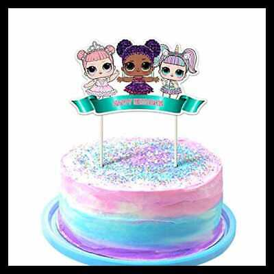 LOL Cake Topper 1St Birthday Toppers Cute Girls Dolls Bday Decorations Theme Par