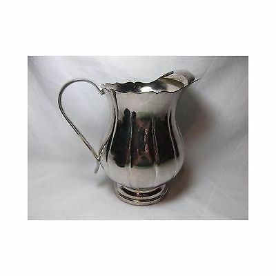 Vtg Jack Shepard Sheffield Silver Co Pitcher 3505 plate USA ice guard 7.25""