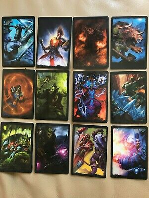 WOW World of Warcraft - SIGNATURE PLASTIC CARDS. PROMOTIONAL