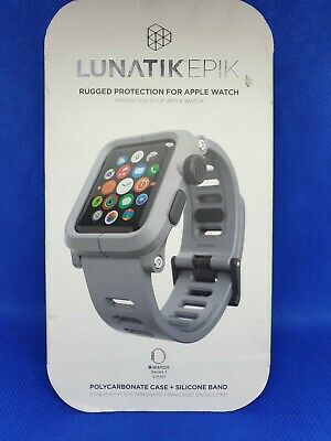Lunatik Epik Protective Case/Silicone Band For Apple Watch Series 1 42mm - Grey