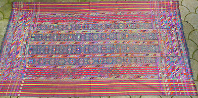 Frame fabric with vegetable colors, first half 20 century, Butan