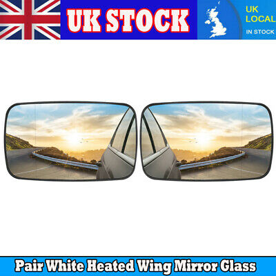Left Passenger Electric Heated Blue Wing Mirror Glass for BMW 3 E46 Coupe 98-05