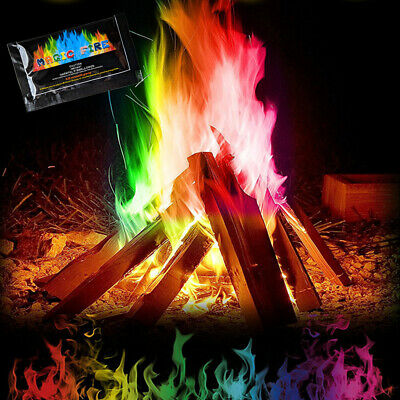 Magic Fire Powder Changing Flames Fireplace Decoration Colour Log Burner Burn UK