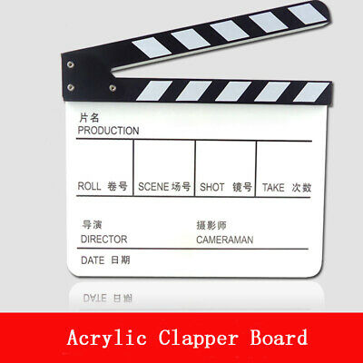 1x Acrylic Directors Clapperboard Clapper Board Decoration,Movie Film Hand-Prop