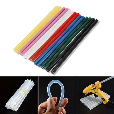 10X/set Colorful Hot Melt Glue Adhesive DIY Craft Sticks for 20W Small Power Gun