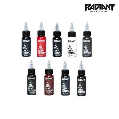 RADIANT TATTOO LAKY INKS 1oz - x HORROR GORE TATTOO COLOURS