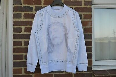 GIVENCHY Baby Blue Jesus Sweatshirt | Size S Cuban SS16 RRP $1200