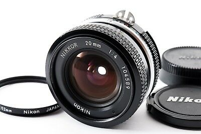 Nikon Nikkor 20mm f/4 Ai Manual Forcus Lens F/S From Japan #331821