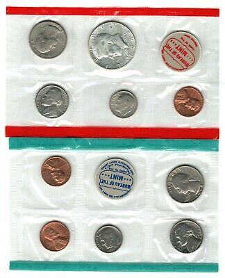 1968 U.s. Silver Mint Set ~ 10 Coins, 2 Tokens ~ A Complete Set From The Mint