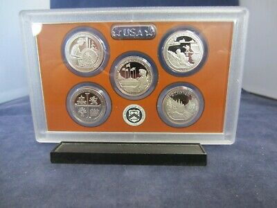 2019 S Mirror 5-coin CLAD Quarters PROOF SET LOWELL MISSIONS CHURCH RIVER no box