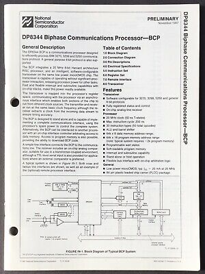 National Semiconductor - DP8344 Biphase Communications Processor Data Sheet 1987