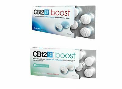 10 PACK CB12 Boost Eucalyptus OR Strong Mint Sugar Free Chewing Gum BULK SAVINGS