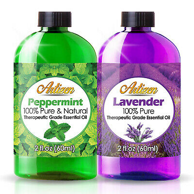 Peppermint Essential Oil Combo Set (100% PURE - UNDILUTED) – 2 x 2oz Bottles