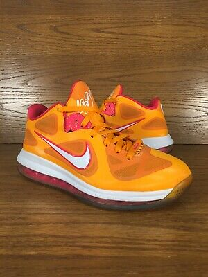 new product 9d803 6427f Mens Nike Lebron 9 Low Floridian Orange Basketball Shoes Size 8.5 No Insoles