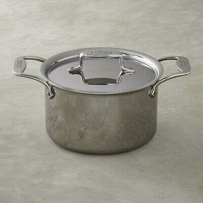 All-Clad D5 Polished Stainless Steel 4-qt soup Pot with Lid and All-clad ladle