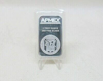 Sealed Apmex 1 Troy oz .999 Fine Silver Bar Bullion One Ounce