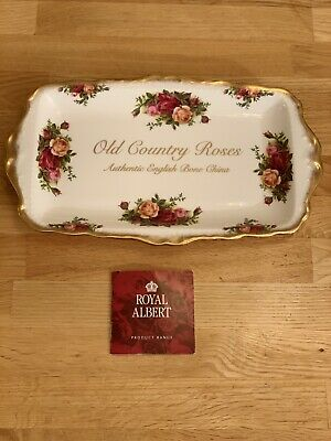 Royal Albert Old Country Roses Sandwich Dish, England, Never Used, 1962