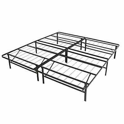 Heavy Duty & Easy to Store Foldable Metal Bed Frame for Queen Size Mattress
