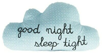 Blue Cloud Cushion 'Good Night Sleep Tight'  Sass & Belle Handcrafted Pillow