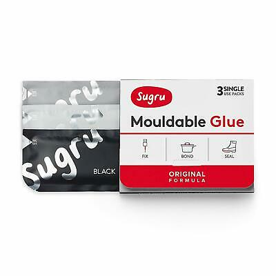 Sugru Mouldable Glue - Original Formula - Black, White And Grey (3-Pack)
