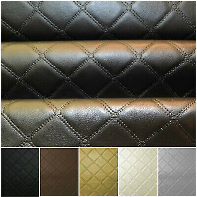 Faux Leather Diamond Fabric Heavy Duty Leatherette Upholstery Vinyl Material