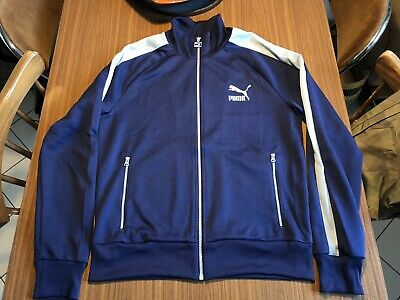 2eed4198064c Puma Track Top Archive T7 Dark Blue   Light Blue Gr. M Great Condition