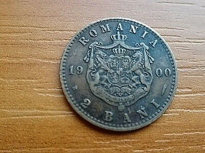 Romania 2 Bani 1879 Carol I 1881-1914 AD Very Rare Copper Coin